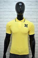 Polo Uomo TOMMY HILFIGER Taglia XS Maglia Gialla Manica Corta Hemd Shirt Man