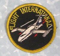 "Flight International Patch - vintage - 3"" x 3"""