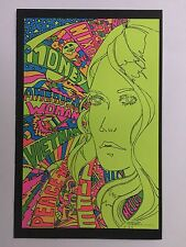 American Woman Blacklight Poster Pin-up Print Pszypp Zipper Double Sided UV