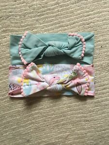 Baby Headbands Bow Chick Pea Pom Pom Detail 0-12months