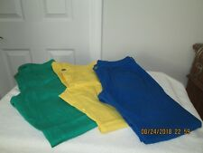 3 Pair CITY STREETS Colored Skinny Jeans Low Rise Junior Sz 9 Green Yellow Blue