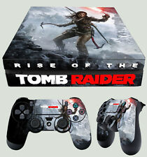 PS4 Fino Piel Rise of the Tomb Raider 01 Cueva Lara Croft + Pad PEGATINAS VINILO