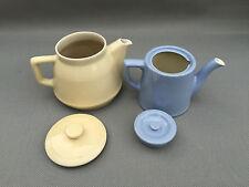 2 antiguas teteras cafetera porcelana arte pop french antigua pottery