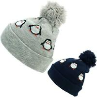 Bobble Beanie Hat Kids Childrens Jiglz CARS Warm Fleece Lining Chunky Knit