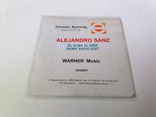 "ALEJANDRO SANZ ""EL ALMA AL AIRE REMIX RADIO EDIT"" CD SINGLE 1 TRACKS TEST PRESIN"