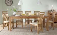 Highbury Oak Extending Dining Room Table & 4 6 8 Bali Chairs Set (Ivory)