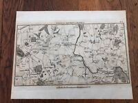 1792 topographical map - part of the great road from london to bath & bristol. 3