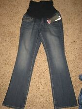 NEW Motherhood Oh Baby maternity womens small denim jeans bootcut  $60