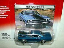 JL 1/64 mopar muscle 1970 PLYMOUTH GTX HARDTOP-blue