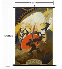 Hot Anime BERSERK Kentaro Miura Wall Poster Scroll Home Decor Cosplay 2527