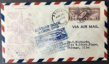 Aviation cover 1932 Wooster Centenary with Airship Dock Akron Ohio, cachets