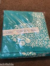 NEW URBAN OUTFITTERS SWEETHEART SHOWER CURTAIN ETHNIC BOHO TEAL TURQUOISE FLORAL