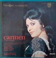 DISQUE 33 TOURS CARMEN OPÉRA DE PARIS 10 NOVEMBRE 1959 ROBERTO BENZI