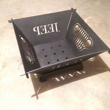 Jeep Wrangler CJ Grill Design Fire Pit Collapsible and Portable CNC plasma cut