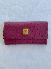 Dooney & Bourke Ostrich Framed Credit Card Wallet Purple!