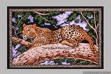 Indian Small Wall Hanging Leopard Cotton Yoga Mat Ethnic Table Cloth Tapestry