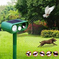 Solar Ultraschall Tiervertreiber Abwehr Gegen Mäuse Marder Katzen Hunde Schreck