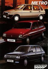 AUSTIN ROVER METRO prospectus 11/86 autoprospekt 1986 brochure brochure auto voitures