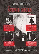"STEVIE NICKS Whole Lotta Music UK magazine ADVERT / mini Poster 11x8"""