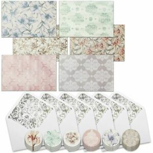 Floral All Occasion Blank Greeting Cards with Envelopes and Seals (36 Pack)