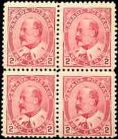 Canada #90 mint F/VF OG NH 1903 King Edward VII 2c carmine Block of 4 CV$225.00