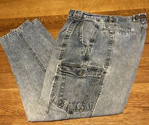 Vintage 80s JORDACHE No Exit Acid Wash Mens jeans RARE  size  36 x 34