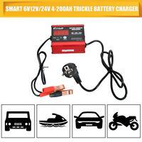 Caricabatteria automatico Smart 6V/12V/24V al piombo / GEL con display LCD MASO