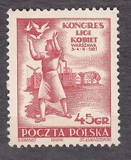 POLAND 1951 MNH SC#SC#498 Congress of Women, Mar. 3-4, 1951