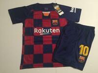 Barcelona 2019/20 Home Messi Kids Set Soccer Jersey Boys Uniform X-Small 6-7 yr