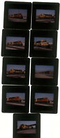 Nine 1999 kodachrome Photo slides BNSF Santa Fe railroad Train
