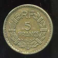 5 francs   LAVRILLIER    1945  ( 2 )  ( bis )