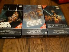 Star Wars, Return of the Jedi, and The Empire Strikes Back Red Label Vhs's