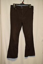 Womens Pants Size 6 Petite By Reitmans Brown Flat Front Button Zipper 4 Pockets