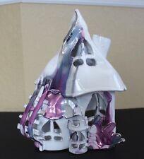HM 2 Seat RENAISSANCE FAIR Castle House Candle Tealight Fairy Purple SilverMetal