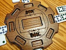 Mexican Train Hub with Train and Pocket carvings - made of Solid Walnut - IG19