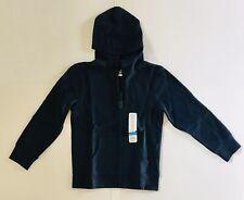 Jumping Beans Boys Full Zip Hoodie Jacket Sz 7 Navy Blue 70%cotton 30% polyester