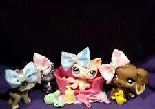 Littlest Pet Shop Rare Brown Dipped Cocker Spaniel Dog Pink Cat 958 959 960 961