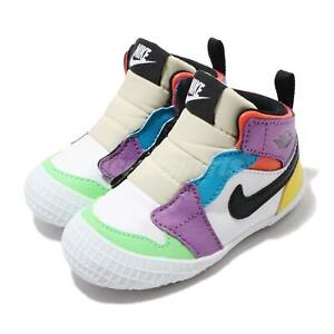 Nike Jordan 1 CRIB Bootie Lightbulb White TD Toddler Infant Baby Shoe AT3745-109