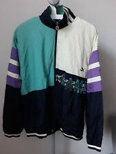 Vintage 90s Black Puma Full Shell Suit Tracksuit Top Jacket Bottoms Retro XXL