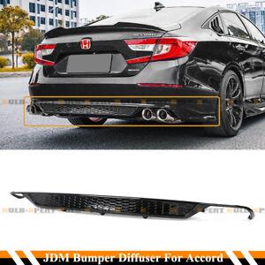 FOR 18-2021 HONDA ACCORD SPORT YF STYLE GLOSSY BLK REAR BUMPER DIFFUSER VALANCE