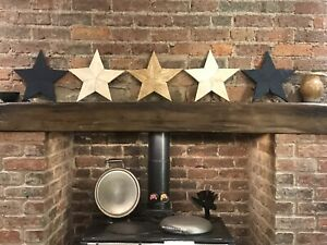 Handmade rustic wooden barn star Christmas Gold/Blue/Black/Waxed/Unfinished new