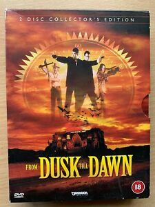 FRom Dusk Till Dawn DVD 1995 Quentin Tarantino Vampire Horror 2-Disc Digipak
