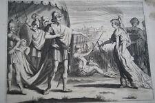 GRAVURE SUR CUIVRE JUDITH HOLOPHERNE-BIBLE 1670 LEMAISTRE DE SACY (B137)