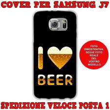 CUSTODIA COVER MORBIDA IN TPU PER SAMSUNG GALAXY J7 (J700) 2015 I LOVE BEER