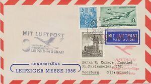 DDR 1956 Sternflug zur Leipziger Frühjahrs-Messe AMSTERDAM – LEIPZIG - AMSTERDAM