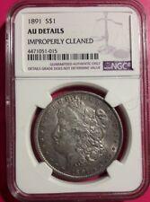 1891 $1 Morgan Silver Dollar NGC  AU DETAILS