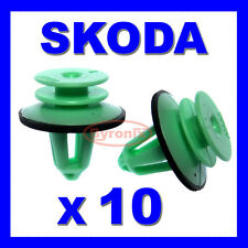 SKODA INTERIOR DOOR PANEL RETAINER TRIM CLIPS X 10