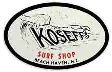 Koseff's Surf Shop - NJ -   Vintage Style Travel Decal sticker surfing