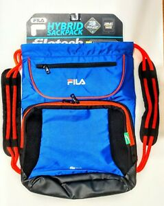 FILA IPAD TABLET Drawstring Backpack Sackpack BIG XL Sport Gym Bag School Travel