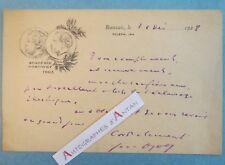 L.A.S 1923 Jean AJALBERT écrivain naturaliste anarchiste BEAUVAIS Goncourt LAS